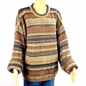 Oversized Baggy Grandpa Sweater Stripes Size Large